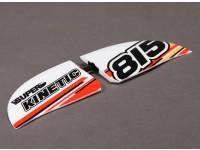 Súper Kinetic - Sustitución del ala horizontal (con las piezas de plástico y la etiqueta engomada)