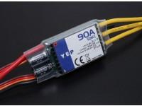 HobbyKing YEP 90A Controlador (2-6S) sin escobillas de velocidad seleccionable con SBEC