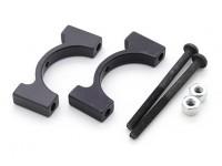 Negro anodizado CNC de aluminio tubo de sujeción 20 mm Diámetro