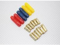 Conectores de bala 6mm Polarizado RCPROPLUS Supra X Gold (6 pares)