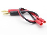 HXT 3.5mm cable de carga de 4 mm con conectores banana (1 unidad)