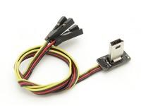 Super Slim GoPro 3 Cable de vídeo y el plomo de la energía para el FPV