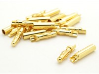 Fácil de 4 mm conectores de oro de soldadura (10 pares)