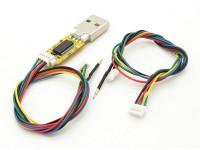 FTDI USB flash del palillo de la Micro y Mini regulador de vuelo con los cables CMM (Multi Wii)