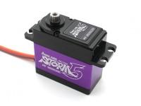 Tormenta de la energía HD-5 de alto voltaje Brushless digital Servo w / aleación de titanio engranajes 18 kg / .066sec / 80g