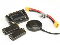 HKPilot Mega 2.7 Maestro conjunto con OSD, LEA-6H GPS, módulo de alimentación, telemetría de radio (915Mhz) (XT-60)