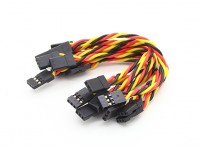 Twisted 15cm macho a macho Servo plomo (JR) 22 AWG (10pcs / set)