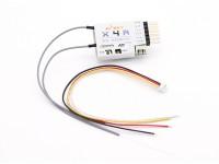 FrSky X4R 2,4 GHz de 4 canales receptor ACCST (w / telemetría)