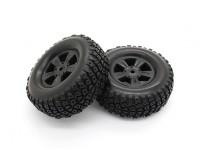 Los neumáticos Set - Basher PBull 1/18 4WD Desert Buggy (2pcs)