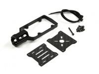 CNC montaje del motor para el bricolaje multi-rotores de tubo de 16 mm (Negro)