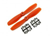 Gemfan Bull Nose BN5045 Propulsores CW / CCW Conjunto (naranja) 5 x 4,5