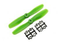 Gemfan Bull Nose BN5045 Propulsores CW / CCW Conjunto (verde) 5 x 4,5