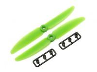 Gemfan 5030 Poliéster / Nylon Propulsores CW / CCW Conjunto (verde) 5 x 3