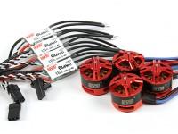 DYS BE1806 2300KV Combo conjunto con 16amp controladores Opto Speed X 4