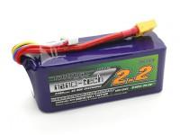 Turnigy nano-tech 2200mah 6S 45 ~ 90C LiPoly batería