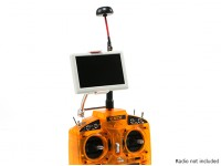 5 pulgadas de 800x480 de 5,8 GHz pequeño piloto HD FPV monitor con la seta y el soporte de la antena