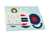 Durafly ™ Spitfire Mk1a sistema de la etiqueta