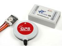 Control de Vuelo tiburón X6 Multi-Rotor y sistema de piloto automático / GPS w