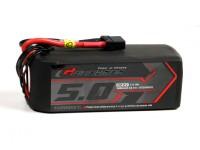 El grafeno Turnigy 5000mAh 65C 6S LiPo paquete w / XT90