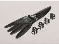 GWS Estilo Slowfly hélice 12x4.5 Negro (CW) (4pcs)