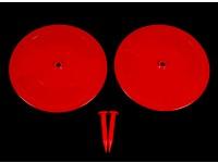 Control de radio del coche Pista Drift marcadores rojos 2 x 200mm