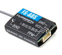 FS-A8S 2.4Ghz 8CH Mini Receiver with PPM i-BUS SBUS Output - Top