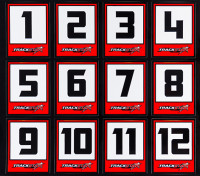 Trackstar Racing Number Decals (10 Sheets)