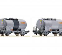 """Roco/Fleischmann HO Scale 2 Piece Tank Wagon Set """"Florin"""" SBB"""