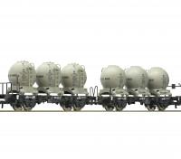 Roco/Fleischmann HO Double Carriage Wagon w/ Detachable Spherical Silo Containers DB