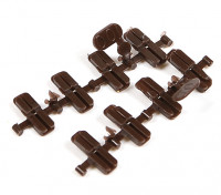 Micro Engineering HO/HOn3 Scale Code 100 to 70 Transition Plastic Insulated Rail Joiners 8pcs (26-002)