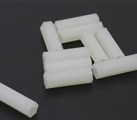 5,6 mm x 18 mm M3 de nylon roscado espaciador (10pc)