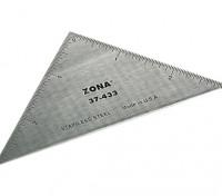 """Zona 3 de precisión """"de acero inoxidable Triángulo regla"""