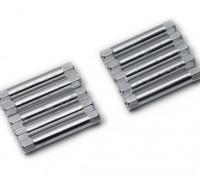 Ligera Ronda de aluminio Sección espaciador M3x30mm (plata) (10 piezas)