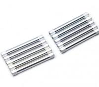 Ligera Ronda de aluminio Sección espaciador M3x45mm (plata) (10 piezas)