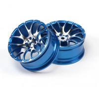1/10 de aluminio Drift 7Y radios de la rueda (azul)