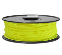 HobbyKing 3D Filamento impresora 1.75mm PLA 1kg Carrete (amarillo fluorescente)