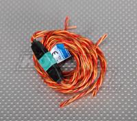 PowerBox fuselaje / ala del conjunto de conexión de cables de alambre de 2 servos .25 40 / 120cm