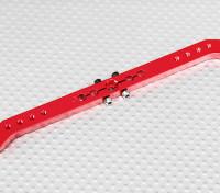 Deber pesada 5.1in aleación de Pull-Tire brazo de Servo - JR (rojo)