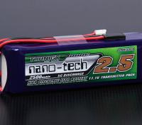 Turnigy nano-tech 2500mAh 3S1P 5 ~ 10C Lipo del transmisor Paquete