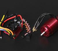 Turnigy TrackStar impermeable 1/8 sin escobillas de alimentación del sistema 1900KV / 120A
