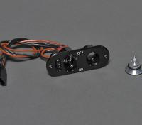 Interruptor RX con la carga / Comprobar el voltaje y puerto de llenado de combustible