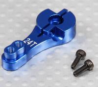 Heavy Duty 24T aluminio brazo de Servo - HITEC (azul)