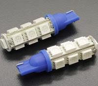LED de luz del maíz de 2.6W 12V (13 LED) - azul (2 unidades)