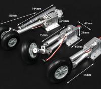 Turnigy Full Metal F-18 Estilo Gran Escala Servoless retracción con las piernas Oleo