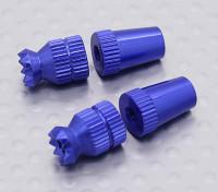 Aleación antideslizante TX Control de palos cortos (Futaba TX azul)