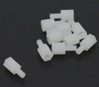 5,6 mm x 13 mm M3 de nylon roscado espaciador (10pc)
