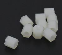 5,6 mm x 6 mm M3 de nylon roscado espaciador (10pc)