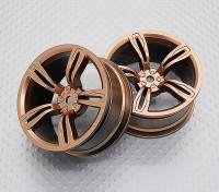 Escala 1:10 alta calidad Touring / deriva de las ruedas del coche RC de 12 mm Hex (2 piezas) CR-M5G