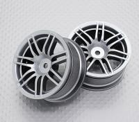Escala 1:10 alta calidad Touring / deriva de las ruedas del coche RC de 12 mm Hex (2 piezas) CR-RS4S