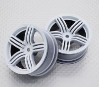 Escala 1:10 alta calidad Touring / deriva de las ruedas del coche RC de 12 mm Hex (2 piezas) CR-RS6W